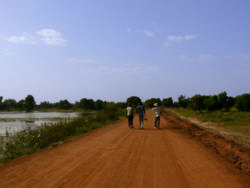 Sur la route de Bazoulé