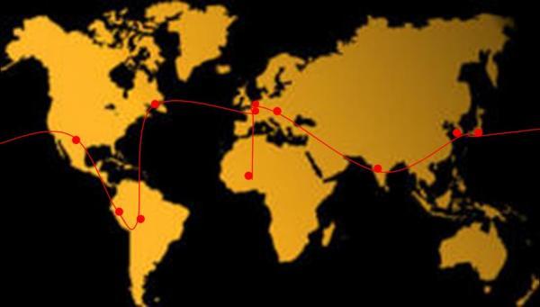 Notre itinéraire pendant 10 mois