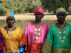 Des femmes de Tasmakat parées de leurs plus beau habits